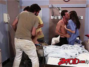 Phil plows the smoking steamy nurse