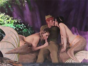 hot mermaid 3some with Aiden Ashley and Mia Malkova