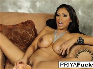 Priya sates her hunger with a toy