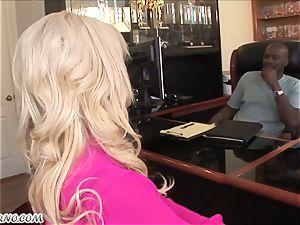Bridgette B - My new Latina secretary in stockings
