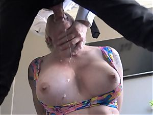 buxom Leya Falcon roughly butt ravaged by Pascal white