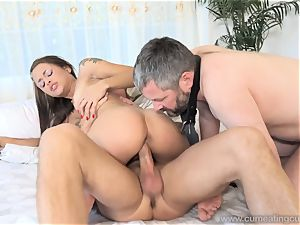 Holly Hendrix Cuckolds spouse and Makes Him gobble spunk
