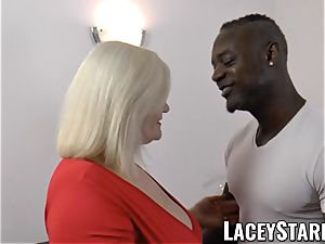 LACEYSTARR - grandmother rectally creampied with big black cock