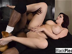 big-chested sandy-haired Dayna wants some multiracial act