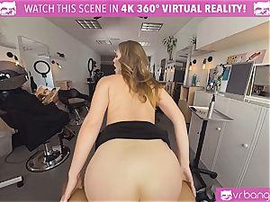 VRBangers.com Hairdresser Ella torn up stiff and facial cumshot