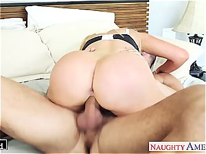 huge-chested towheaded Nikki Benz take dick