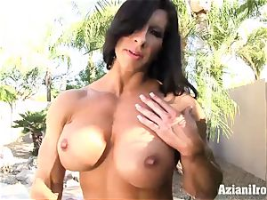 weird fit Angel shows us her thick slit and clit
