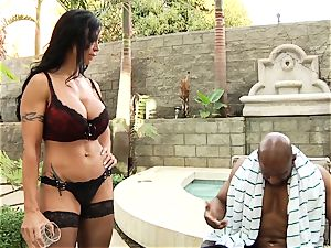 joy buttons Jade is butt banged by her dark-hued lover