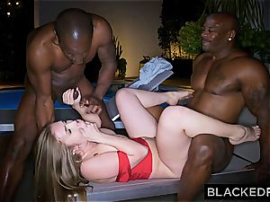 Lena has to sate two dark-hued schlongs in failed double rendezvous