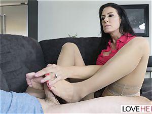 LoveHerFeet - Stepson boinks His Stepmom On The sofa