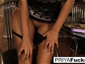 Priya makes herself all super-steamy and bothered