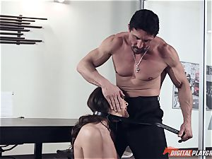 Dana DeArmond and Tommy Gunn romping in the office