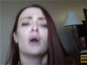 redhead nubile penetrated rock hard and ball-gagged by mighty maledom