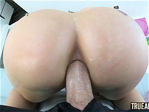 TRUE anal Lana Rhoades has her perfect backside gaped