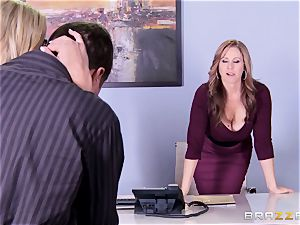Julia Ann and Olivia Austin penetrate the chief together