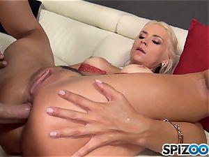 insatiable ash-blonde Sarah Vandella porked in her fuckbox pie