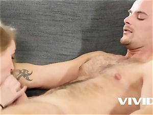 Vivid.com - dame Bug getting testicle tonic for the very first time