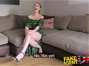 FakeAgentUK finger plumbing booty licking and jizm wettened