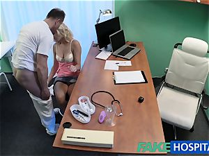 FakeHospital light-haired patient toying with her vag