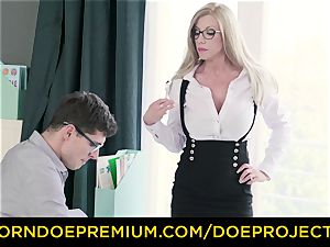 crazy tutor - huge-chested mummy gets boinked by her schoolgirl