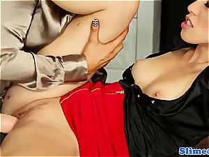 handsome Jenna cute and Tiffany gal gets weird for bukkake