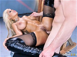 large donk light-haired Bridgette B rammed in her rear end