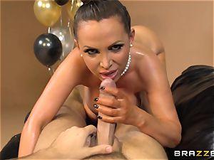Nikki Benz celebrates with an oily ass-fuck poke