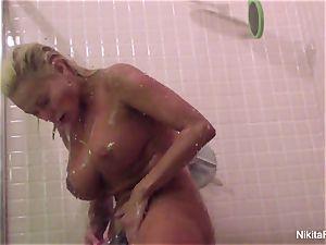 Nikita's Home flick - showering and pruning herself