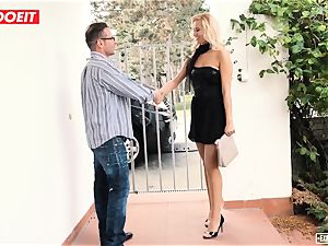 LETSDOEIT - super-hot secretary plumbed gonzo At casting
