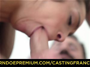 casting FRANCAIS - amateur beauty romped and jism decorated