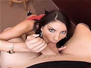 AUGUST AMES GIVE A WORLD CLASS fellatio AT THE BAR