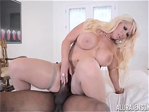 interracial puss inserted Alura Jenson with fat ebony meatpipe