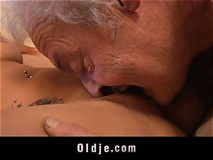 elderly man's audition a warm nubile