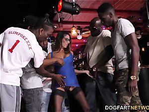 Dava Foxx interracial group sex