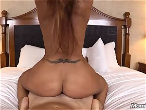 steamy Latina fledgling cougar very first timer