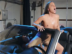 Abigail Mac slobbering on a phat cock