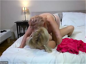 OldNanny Grandy and nubile lesbos