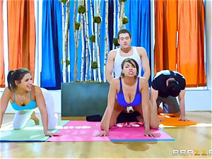 hard exercise for Abella Danger and Cassidy Banks