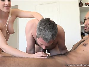 Niki Snow Makes husband gargle meaty ebony pecker