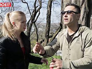 LETSDOEIT -weirdo boy Tricks scorching blonde Tourist Into hook-up