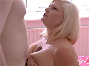 AgedLovE gonzo orgy with Mature Lacey Starr