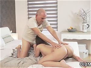Christmas dad and old duo orgasm Her moist wish