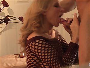 Devon Lee bopping the hard bishop of her fucking partner