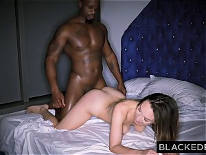 BLACKEDRAW Smoking Swinger wife tries black lollipop