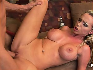 poking Nikki Benz