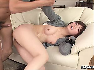 cheating japanese wife pounded in a humid session