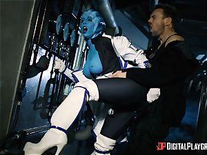 Space porn parody with sizzling alien Rachel Starr
