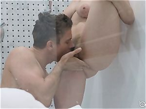 Lena Paul douche fuck with hunky German Mick Blue