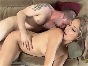 inviting Ella Milano gets her raw vag pulverized