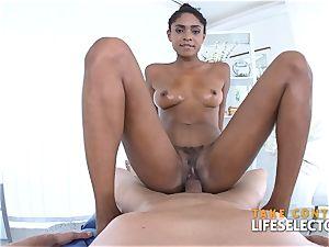 Luna Corazon - interracial Shool smash
